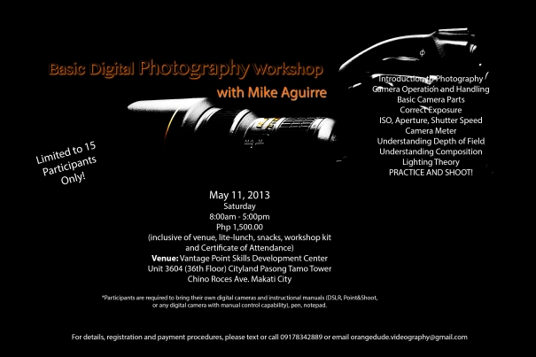 Basic Digital Photography Workshop